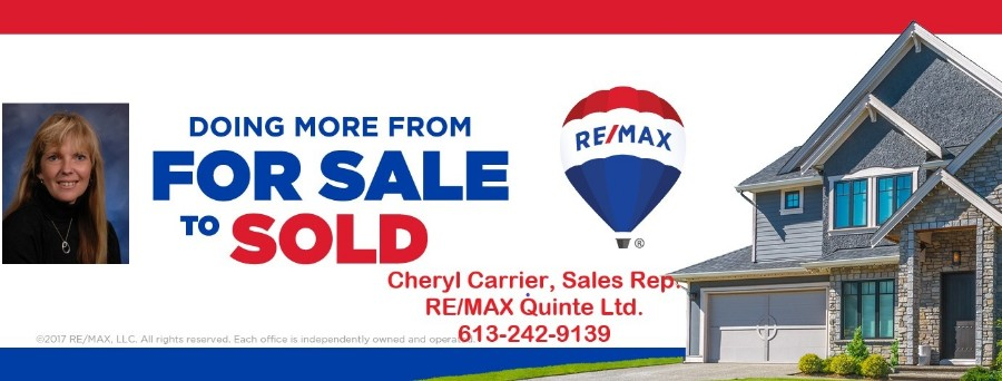 RE/MAX QUINTE LTD. CHERYL CARRIER SALES REP