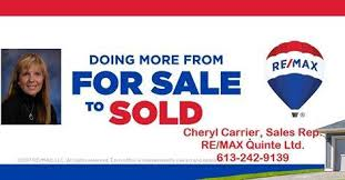 RE/MAX Quinte Ltd., Cheryl Carrier, Sales Rep.,